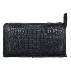 Клатч из кожи крокодила черный DCM 023 Black