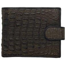 Кошелек мужской из кожи крокодила коричневый ALM 03/2 SK Brown