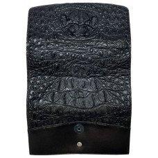 Гаманець жіночий зі шкіри крокодила чорний PCM 03 BH  Black