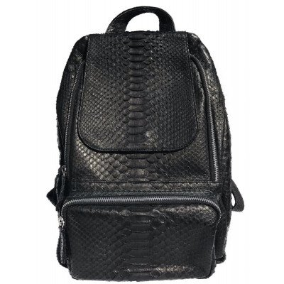 Рюкзак зі шкіри пітона чорний PTRI 7/13 , фото