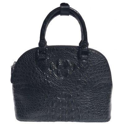 Сумка жіноча зі шкіри крокодила чорна BCM 898 Black