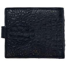 Кошелек мужской из кожи крокодила черный ALM 03/2 SK Black