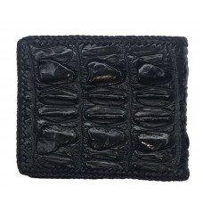 Портмоне чоловіче зі шкіри крокодила чорне ALM 03 BTS Black
