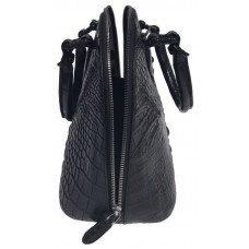 Сумка женская из кожи крокодила черная BCM 898 Black