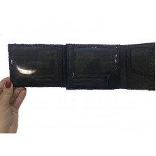 Портмоне мужское из кожи питона черное PTWI 009/13