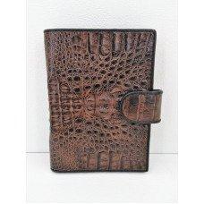 Кошелек мужской из кожи крокодила коричневый ALMP 9001T Brown