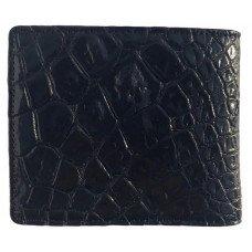 Портмоне мужское из кожи крокодила черное ALM 03/2 PL Black