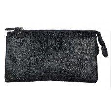 Клатч из кожи крокодила черный CM 022 H Black