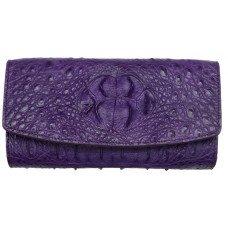 Гаманець жіночий зі шкіри крокодила фіолетовий PCM 03 BH  Violet