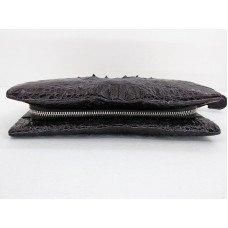 Клатч зі шкіри крокодила коричневий CM 022 H Brown