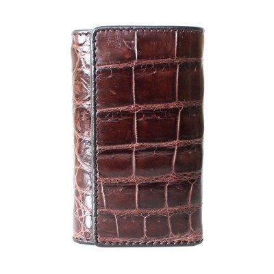 Ключница из кожи крокодила коричневая SS 043 B Brown , фото