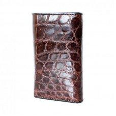 Ключница из кожи крокодила коричневая SS 043 B Brown