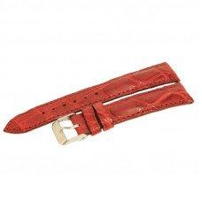 Ремешок для часов из кожи крокодила красный ALWS 01 Maroon