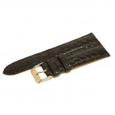 Ремінець для годинника зі шкіри крокодила чорний ALWS 01 Black
