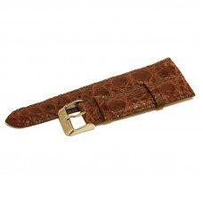 Ремешок для часов из кожи крокодила коричневый ALWS 01 Light Brown