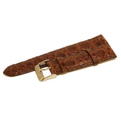 Ремешок для часов из кожи крокодила коричневый ALWS 01 Light Brown , фото