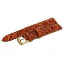 Ремінець для годинника зі шкіри крокодила коричневий ALWS 01 Tan