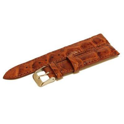 Ремешок для часов из кожи крокодила коричневый ALWS 01 Tan , фото