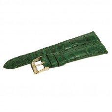 Ремешок для часов из кожи крокодила зеленый ALWS 01 Emerald Green