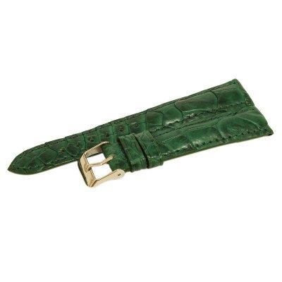 Ремешок для часов из кожи крокодила зеленый ALWS 01 Emerald Green , фото