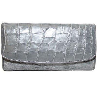 Гаманець жіночий зі шкіри крокодила сірий PCM 03 B Grey