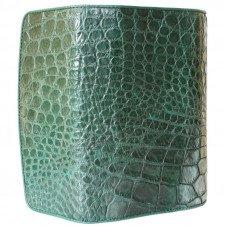 Гаманець жіночий зі шкіри крокодила зелений PCM 03 B Emerald Green