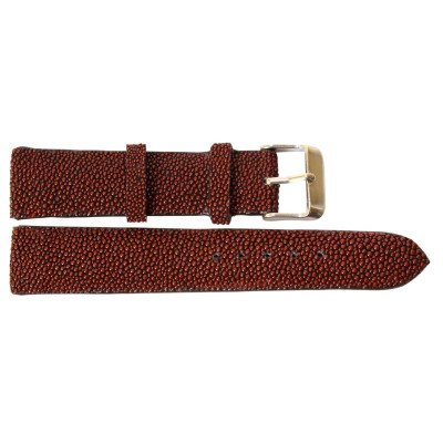 Ремешок для часов из кожи ската коричневый STWS 01 Brown , фото