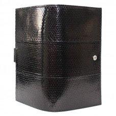 Визитница из кожи морской змеи черная SNCH 36-3 Black