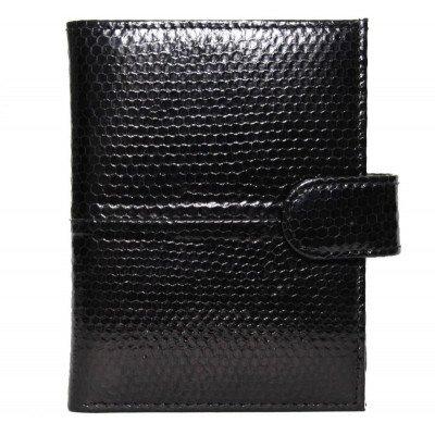 Кошелек из кожи морской змеи черный SN 76 Black , фото