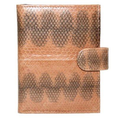 Гаманець зі шкіри морської змії коричневий SN 76 Tan , фото