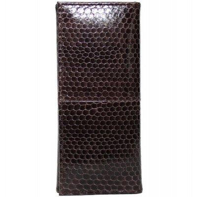 Ключница из кожи морской змеи коричневая SNKH 01 Brown , фото