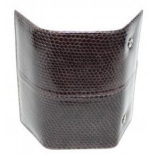 Ключница из кожи морской змеи коричневая SNKH 01 Brown