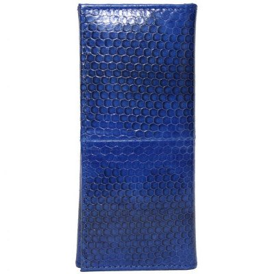 Ключница из кожи морской змеи синяя SNKH 01 Dark Blue