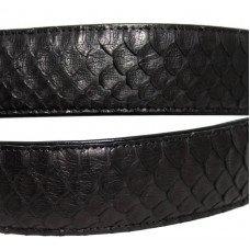 Ремінь зі шкіри пітона чорний 105 PTB Black