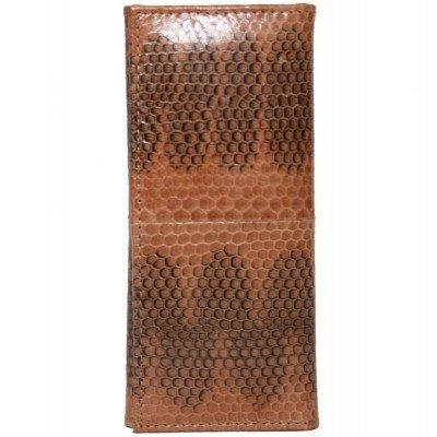 Ключница из кожи морской змеи коричневая SNKH 01 Tan , фото