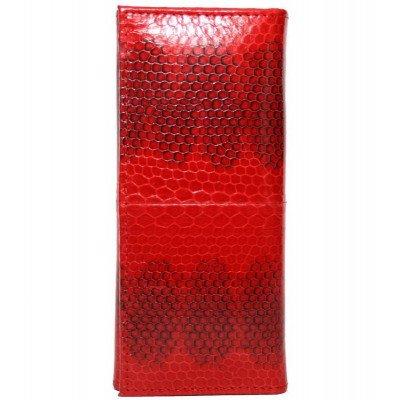 Ключница из кожи морской змеи красная SNKH 01 Fire red , фото