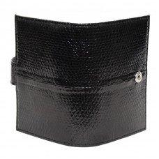 Визитница из кожи морской змеи черная SNCH 18-1 Black