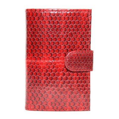 Визитница из кожи морской змеи красная SNCH 18-1 Fire red , фото