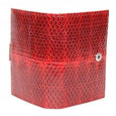 Визитница из кожи морской змеи красная SNCH 18-1 Fire red