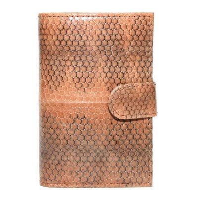 Візитниця зі шкіри морської змії коричнева SNCH 18-1 Tan