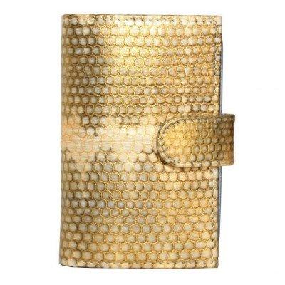 Визитница из кожи морской змеи SNCH 18-1 Gold