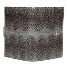 Визитница из кожи морской змеи серая SNCH 18-1 Gray