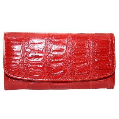 Гаманець жіночий зі шкіри крокодила червоний PCM 03 B Fire Red