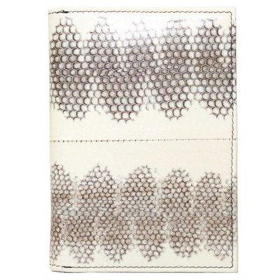 Обложка для паспорта из кожи морской змеи белая SNPH 01 Natural , фото