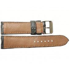 Ремінець для годинника зі шкіри крокодила сірий ALWS 01 Grey