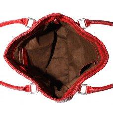 Сумка жіноча зі шкіри морської змії червона BSN 818 Fire red