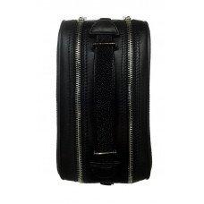 Сумка жіноча зі шкіри ската чорна STB 501 Black