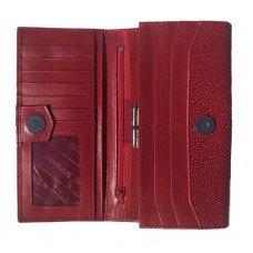 Гаманець жіночий зі шкіри ската червоний ST 53 Red