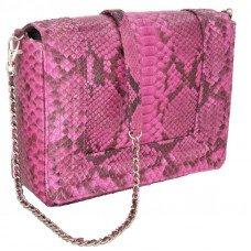 Сумка женская из кожи питона розовая PTBI 003 Pink