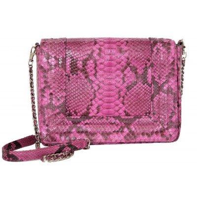 Сумка женская из кожи питона розовая PTBI 003 Pink , фото